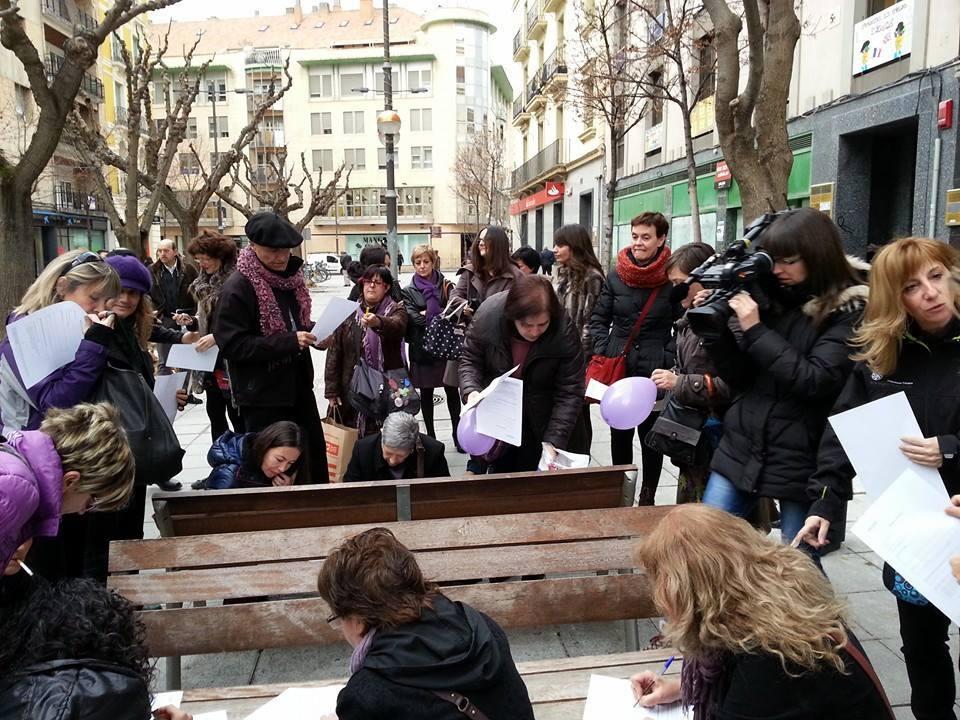 """La Coordinadora de Organizaciones Feministas convoca a las mujeres de Zaragoza a """"registrar"""" sus cuerpos"""