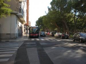 Final de parada de la línea 39 de AUZSA en la calle Cuarte. Foto: AV Venecia