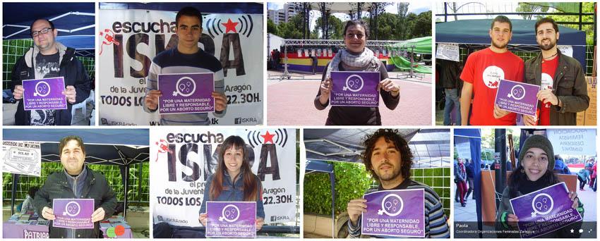La Coordinadora de Organizaciones Feministas de Zaragoza presenta este sábado la campaña 2014 contra la ley del aborto