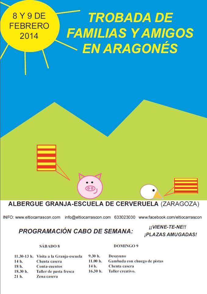 Trobada de familias y amigos en aragonés