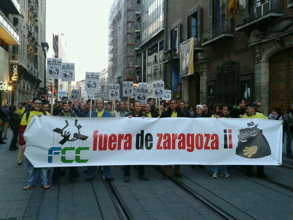 CGT gana las elecciones sindicales en FCC parques y jardines de Zaragoza