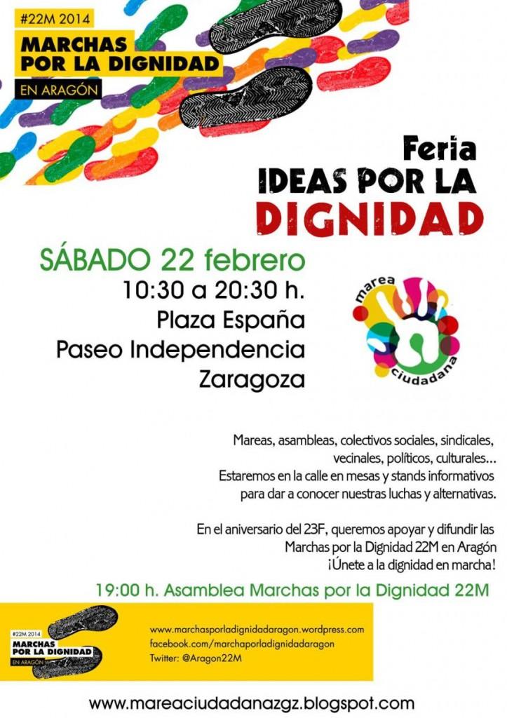 """Más de 30 colectivos presentes en Zaragoza en la feria de """"Ideas por la Dignidad"""""""