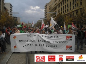 sindicatos de clase con Marchas22M
