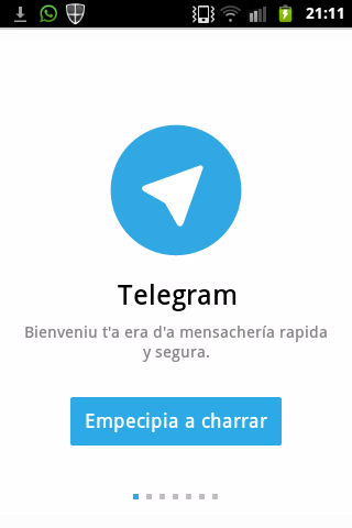 Telegram, l'alternativa a o Whatsapp, ya ye en aragonés
