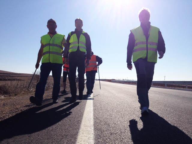 Las marchas cumplieron este lunes su etapa más dura entre Muel y Morata en defensa de los derechos de las trabajadoras