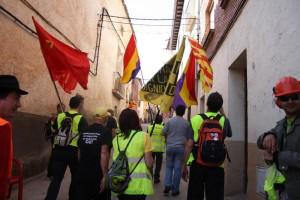 Ecologistas en Acción apoya las marchas que ya han salido de diferentes puntos para confluir en Madrid el 22 de marzo y señala que los ejes de la convocatoria son centrales para enfrentar la crisis socioambiental. Foto: Marchas por la Dignidad en Aragón