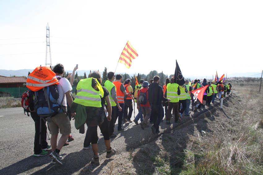 Gran recibimiento en Calatayut a las Marchas por la Dignidad en Aragón