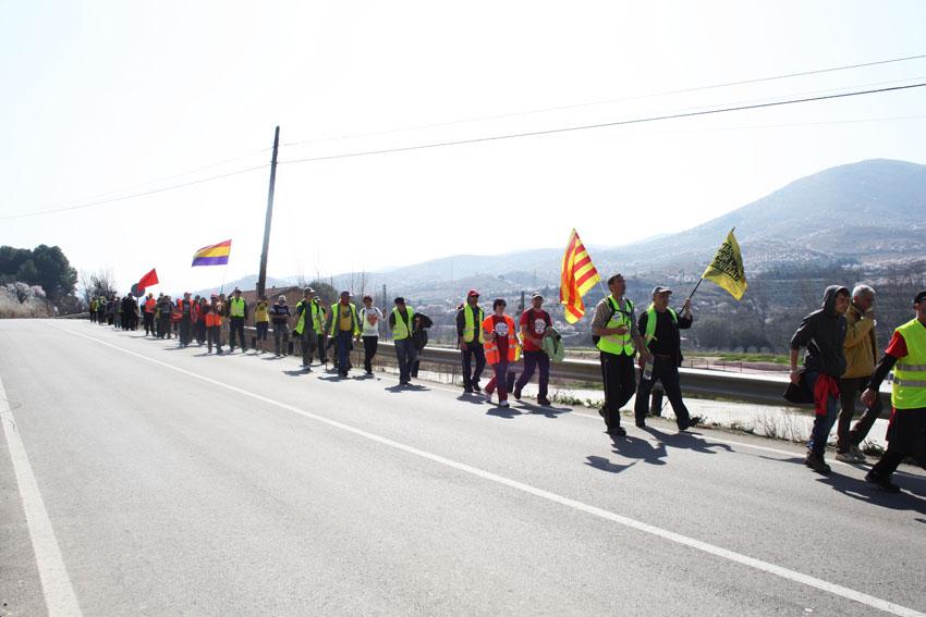 La marcha aragonesa, cada vez más cerca de su destino, llega a Cetina