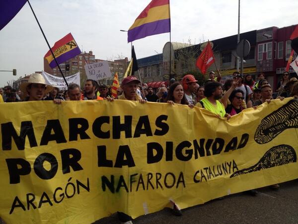 1.500 aragoneses repartidos en 26 autobuses reforzarán la entrada en Madrid de la columna Nordeste