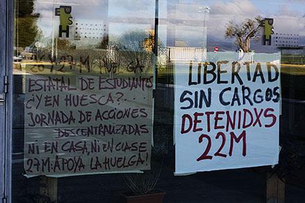 """Convocan una """"Jornada de acciones descentralizadas"""" en el campus universitario de Uesca en apoyo a la huelga de estudiantes"""
