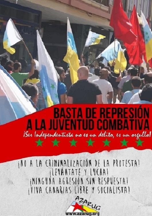"""Azarug: """"La represión es la vía del gobierno español, que intenta apagar cualquier forma de expresión popular a través de la fuerza"""""""