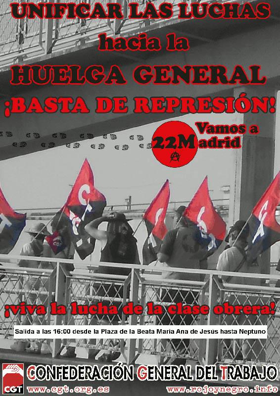 CGT apoya las Marchas por la Dignidad y propone dar continuidad a la movilización