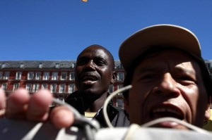 Concentración contra los CIE en Madrid en marzo de 2011. Foto: Olmo Calvo (en Diagonal)