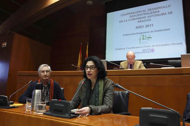 La FAS presenta en Las Cortes el Informe sobre Cooperación Descentralizada Aragonesa 2012