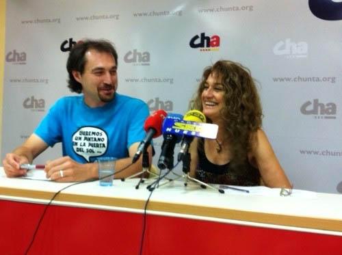 Mariví Monterrubio y Francho Nagore serán los nuevos concejales de CHA en el Ayuntamiento de Uesca