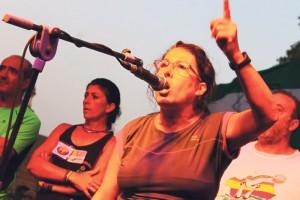 María Carmen Bueno del Sindicato Andaluz de Trabajadores y Trabajadoras de Andalucía.