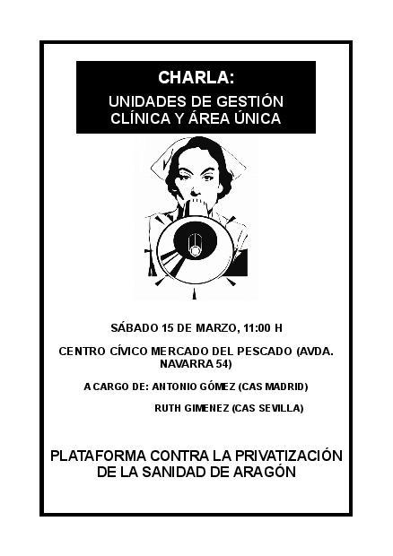 """Proyecto de gestión sanitaria """"Área Única"""" en Aragón: privatización de la sanidad disfrazada de libre elección"""