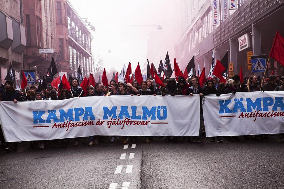 Más de 10 mil personas se manifestaron en Malmö después del último ataque neonazi