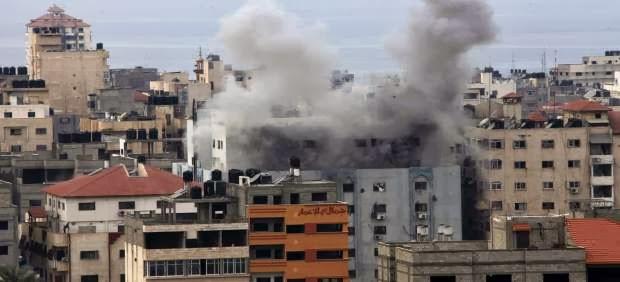La aviación israelí bombardeó la Franja de Gaza nueve veces