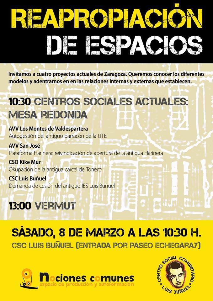 Última sesión del curso 'Reapropiación de espacios: centros sociales'