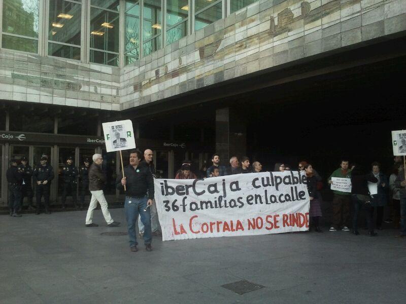 Ibercaja mantiene su inhumana actitud ante el desalojo de la Corrala Utopía