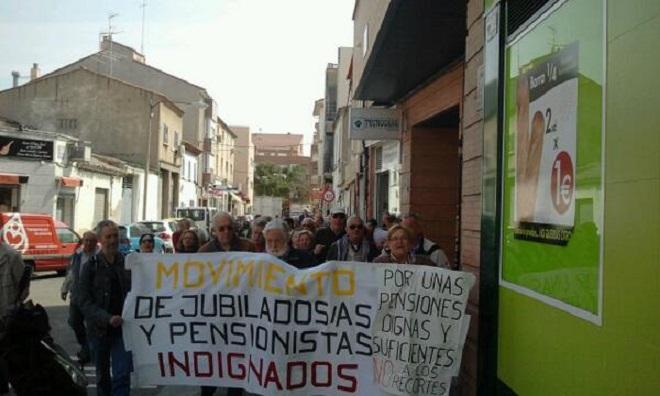 El movimiento de pensionistas y jubilados indignados convoca en Zaragoza una concentración en favor de unas pensiones dignas