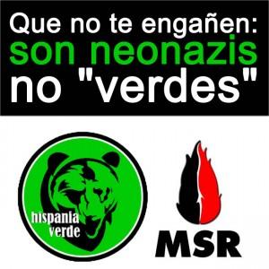 40 colectivos firmaron un manifiesto informando sobre la actuación de grupos ultraderechistas en Aragón, entre ellos Hispania Verde y MSR.