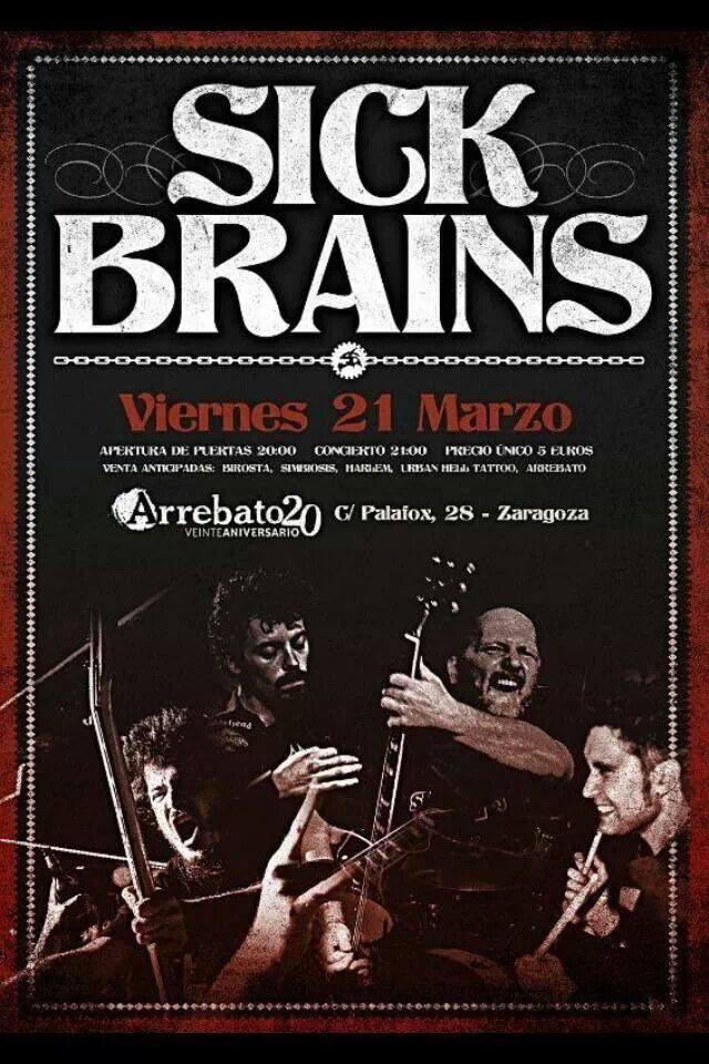 Los veteranos Sick Brains esta noche en Arrebato