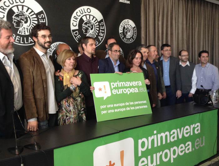 Ángela Labordeta interviene en la presentación de la coalición Primavera Europea en Madrid