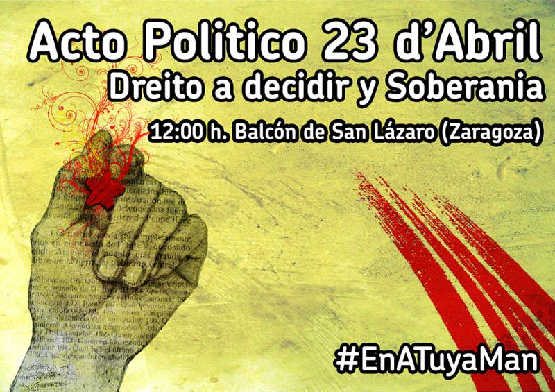 'En A Tuya Man' convoca un acto por el «Derecho a decidir y la Soberanía»