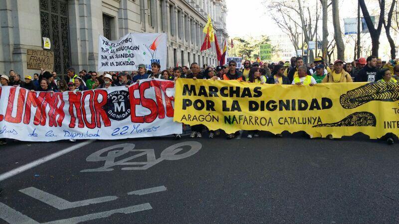 La Fiscalía pide hasta 10 años de cárcel para 12 acusados por las Marchas de la Dignidad