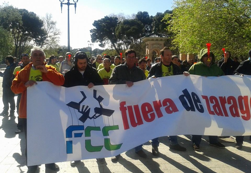 El SAMA convoca a la plantilla de Parques y Jardines y a la dirección de FCC para evitar los próximos paros en Zaragoza