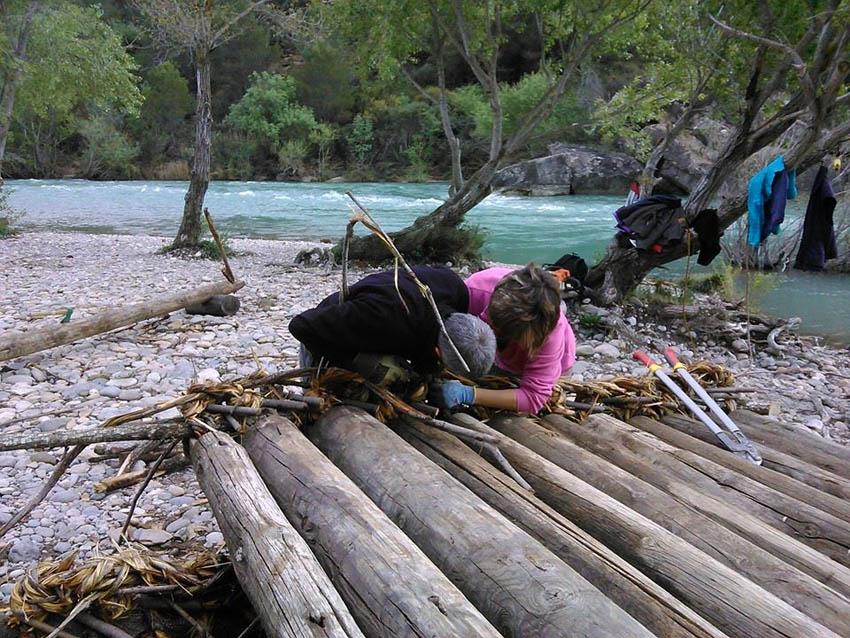 Recta final para la construcción de nabatas del río Galligo