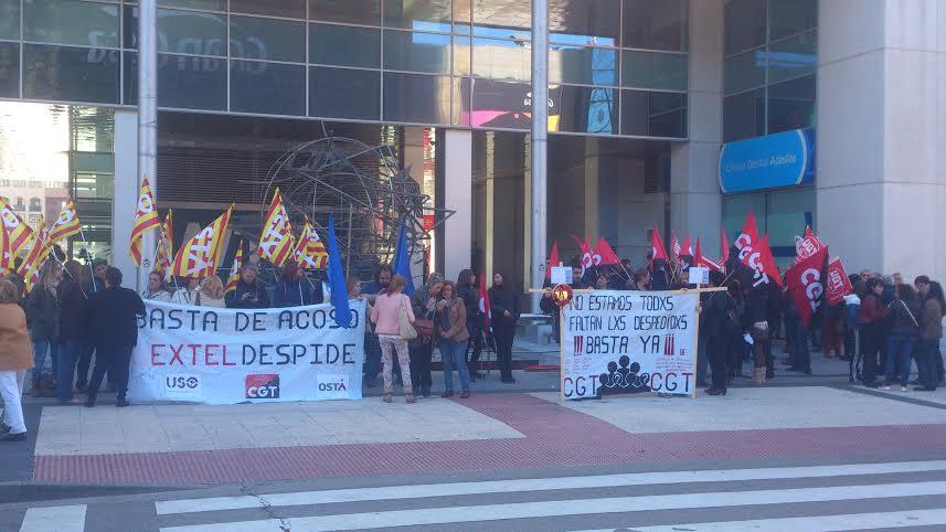 Seguimiento masivo en Zaragoza de los paros en EXTEL