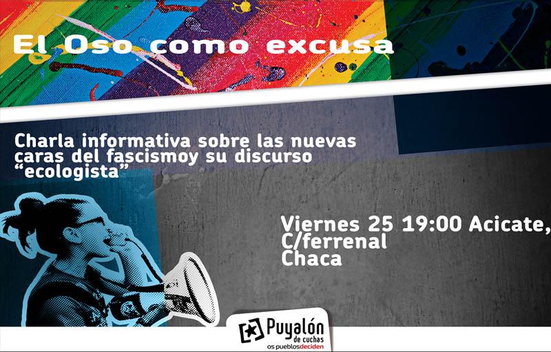 Chaca acoge una charla informativa de Puyalón sobre las nuevas caras del fascismo en Aragón