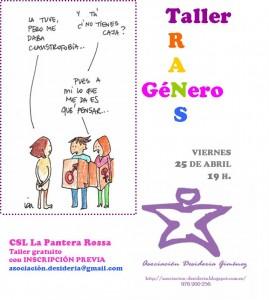 El taller, organizado por la , tendrá lugar este viernes, 25 de abril, en La Pantera Rossa.