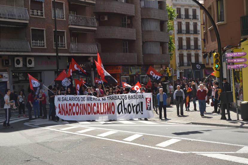 CNT Zaragoza llama a recuperar la dignidad este 1º de Mayo