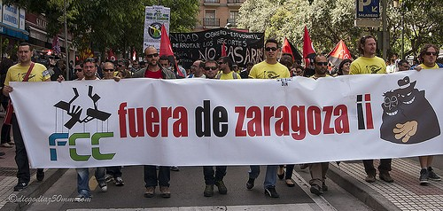 Zaragoza en Común se reúne con representantes del comité de empresa de FCC Parques y Jardines