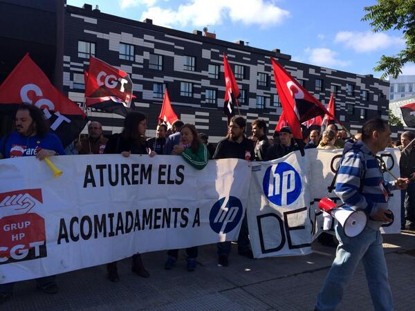 Los sindicatos CCOO y AIT y la dirección de HP excluyen a CGT de las negociaciones
