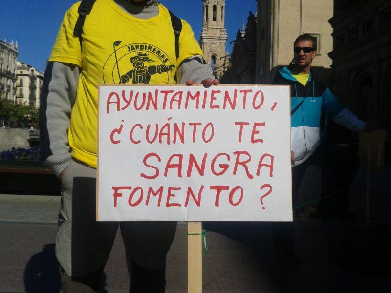 """Comité de huelga: """"Lambán dice ser sensible a las reivindicaciones de la plantilla de FCC Parques y Jardines"""""""