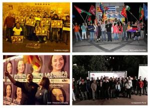 Diversos actos dieron comienzo a la campaña electoral para las elecciones europeas del próximo 25 de mayo.
