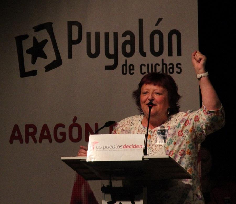 """Puyalón afirma en Zaragoza """"somos la voz rebelde e insumisa de Aragón en Europa"""""""