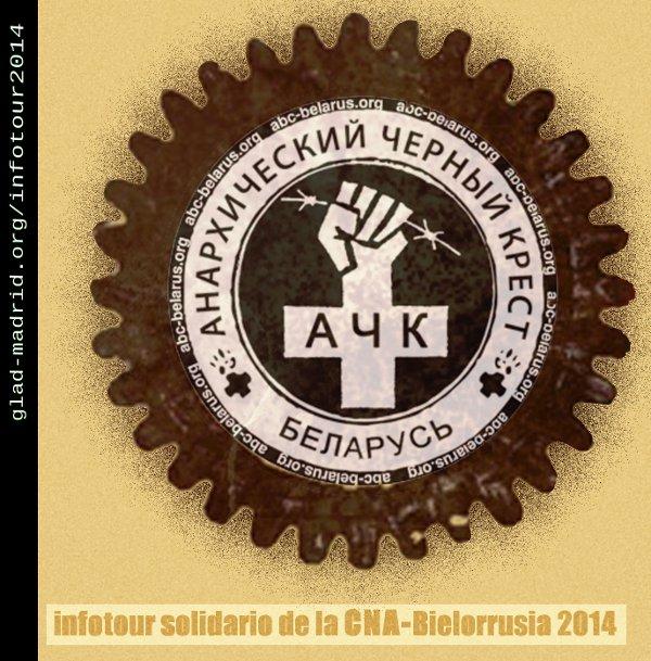 Cruz Negra Anarquista ofrecerá dos charlas sobre Bielorrusia en Teruel y Zaragoza