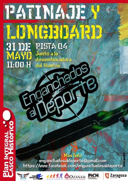 El Casco de Zaragoza acoge un evento sobre ruedas con Enganchados al Deporte