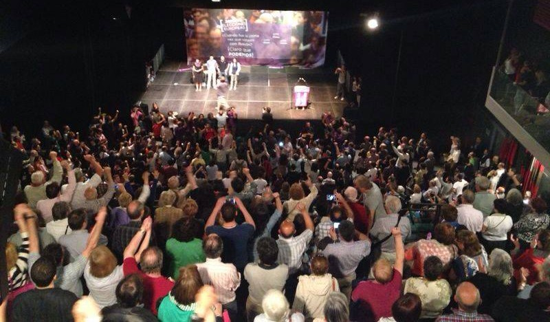 """Podemos trajo a Zaragoza """"la ilusión de un cambio en la ya trasnochada política bipartidista"""""""