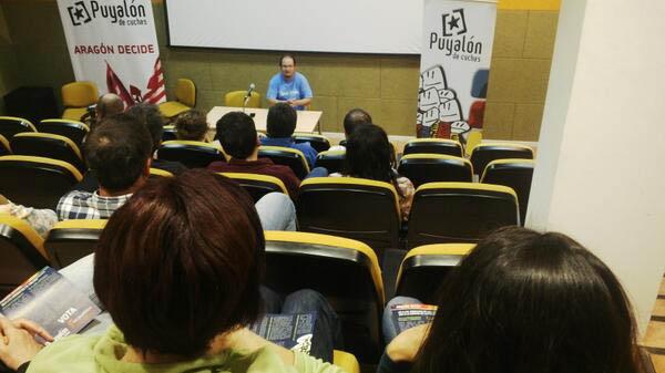 Puyalón-Os Pueblos Deciden muestra su apoyo a Aiguaviva en la lucha contra la presa