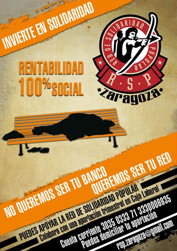 La Red de Solidaridad Popular de Zaragoza pone en marcha una campaña de financiación solidaria
