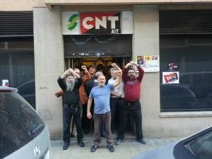 Local de PSA ocupado por CNT Zaragoza desde el pasado 1 de mayo. Foto: CNT Zaragoza