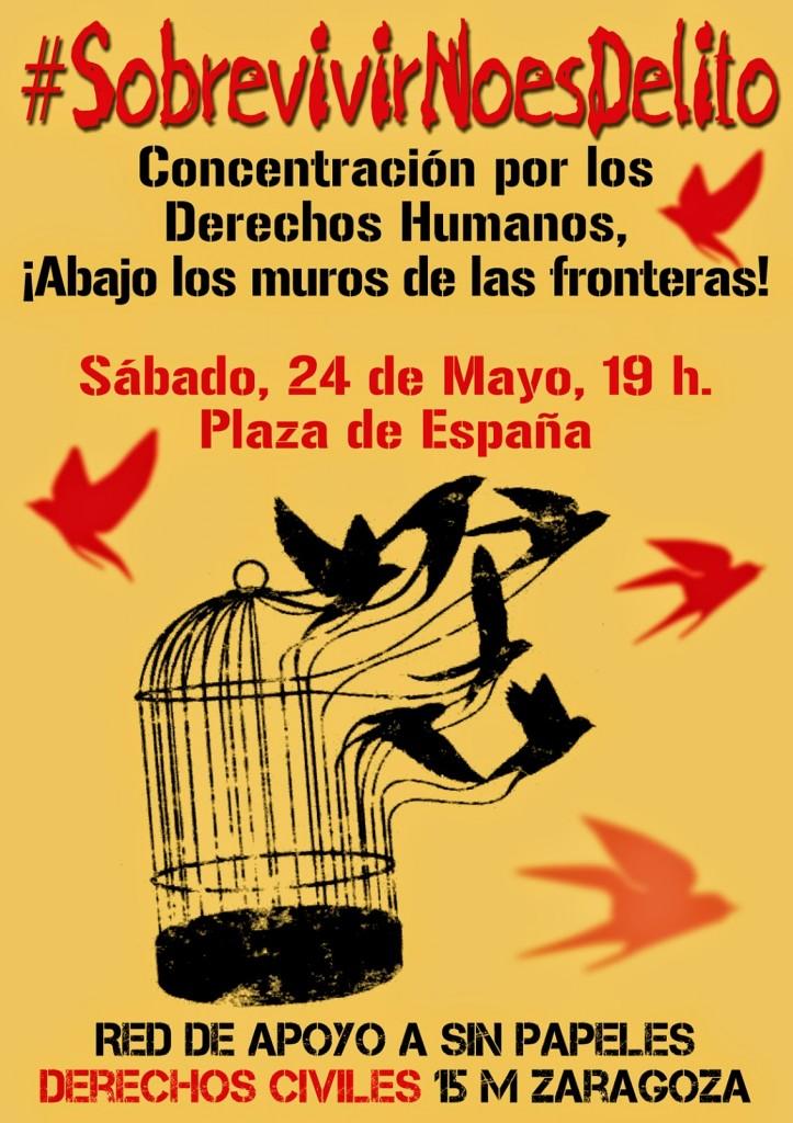 """Convocan una concentración en Zaragoza con el lema """"Abajo los muros de las fronteras"""""""
