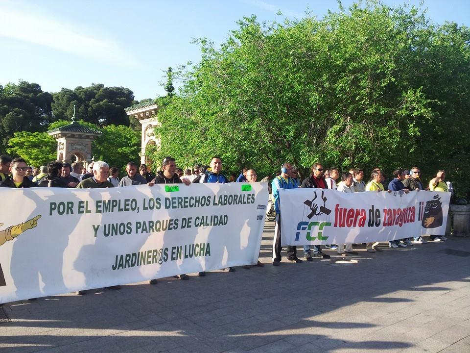 """Charla """"Los Jardineros de FCC en Huelga"""" en la AVV Venecia de Zaragoza"""